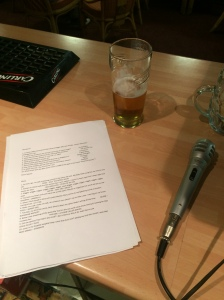 Microphone, questions, Beer.. 3 ingredients of a quiz master